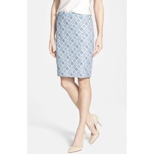 Halogen Jacquard Welt Pocket Pencil Skirt
